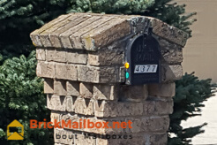 Baroque Brick Mailbox Design