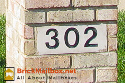 Cast Stone Number Block