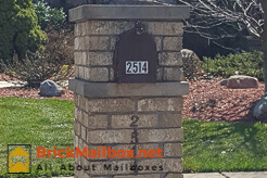 Double Capstone Brick Mailbox Design