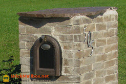 Brick Mailbox with Cap Stone