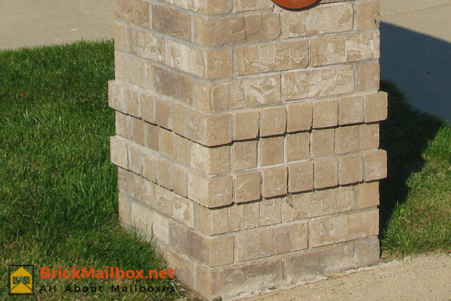 Brick mailbox designs for Brick quoin corners