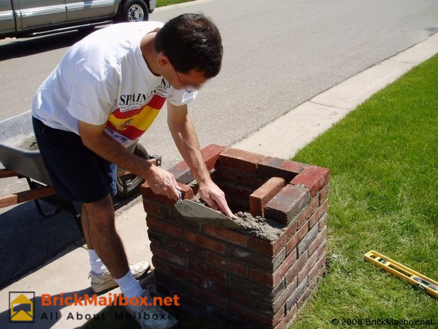 Building A Brick Mailbox Post