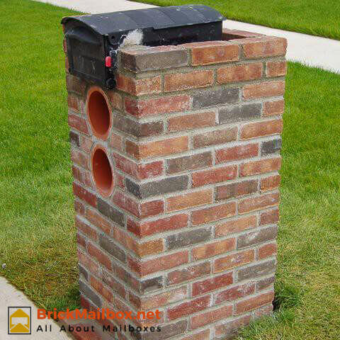 how to build a brick mailbox step by step