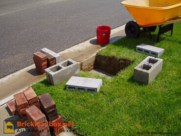 Materials for building the brick mailbox