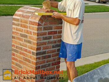 Very last brick for the brick mailbox