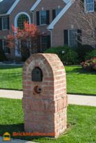 Finished Brick Mailbox