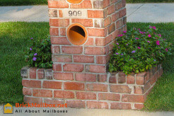 Brick Mailbox with Planter Boxes