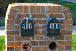 Brick Mailbox with Projecting Courses Top