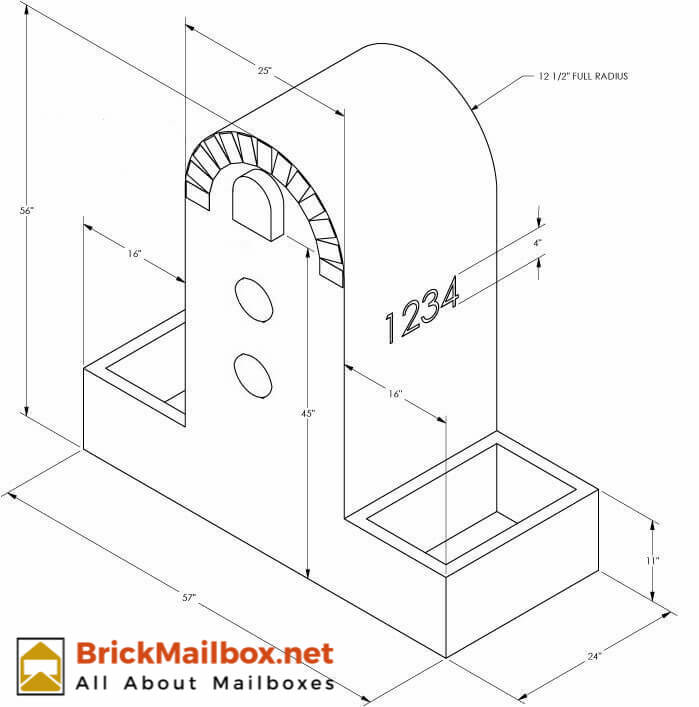 brick mailbox plan example